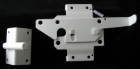 Large Paddle Latch White